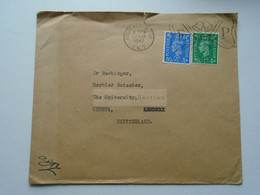 D175854 UK   Cover South Kensington 1947 British Museum Seal-sent To  Dr. K.H. Rechinger, Université Geneve Switzerland - Briefe U. Dokumente