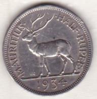 Ile Maurice, 1/2 Rupee 1934 , George V, En Argent - Mauricio