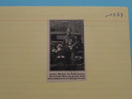 ACHIEL MICHIEL Junior Te GEET-BETZ ( Winnaar ) 1934 ( Zie Foto Voor Detail ) KRANTENARTIKEL ! - Ciclismo