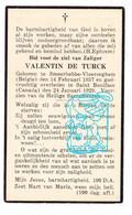 DP Valentin De Turck ° Smeerebbe-Vloerzegem Geraardsbergen Belgium 1857 † Saint Boniface Winnipeg Canada 1929 - Devotion Images