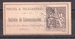 Timbre-Téléphone N° 17 Oblitéré Septembre 1902 St Seine Sur Vingeanne (Côte D'Or) - CàD Tireté - Télégraphes Et Téléphones