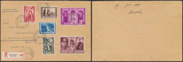 Troisième Orval - Série Complète Sur Lettre En Recommandé çàd N°513/18 De Bruxelles (1939) > S' Gravenhage (Hollande) - Storia Postale