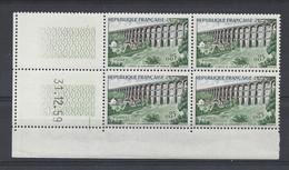 VIADUC De CHAUMONT N° 1240 - Bloc De 4 COIN DATE - NEUF SANS CHARNIERE -  31/12/59 - 1960-1969