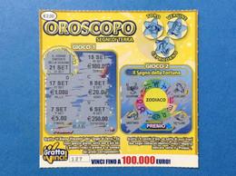 ITALIA LOTTERIA ISTANTANEA GRATTA E VINCI USATO € 2,00 OROSCOPO SEGNI DI TERRA LOTTO 0035 ITALY LOTTERY TICKET - Lottery Tickets