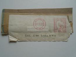 D175874 GB -EMA Meter Stamp  1/8 1/2 - CUT -  1949 - Briefe U. Dokumente