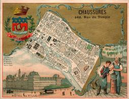 Chromo Chaussures 162 Rue Du Temple PARIS 4 ème Arrondissement Hôtel De Ville En TB.Etat - Otros