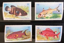 FIDJI 1985 4 V Neuf ** MNH Mi 530 A 533 Pesce Poisson Fish Pez Fische FIJI - Peces