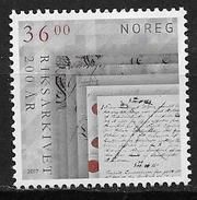 Norvège 2017 N°1876 Neuf Archives Nationales - Ungebraucht