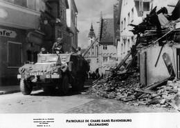 RAVENSBURG PATROUILLE DE CHARS SERVICES DE PRESSE MINISTERE DE LA GUERRE 17X12CM - Guerra, Militari