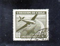 CHILI     1942-46  Poste Aérienne  Y. T. N° 69  à  89  Incomplet  Oblitéré  81 - Chile
