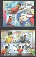 CA854 2012 CENTRAL AFRICA CENTRAFRICAINE SPORTS TABLE TENNIS CHAMPIONS 1KB+1BL MNH - Tennis Tavolo