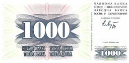 BOSNIE-HERZEGOVINE 1992 1000 Dinar - P.15a Neuf UNC - Bosnia And Herzegovina