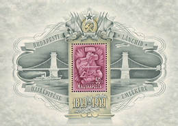 Ref. 372872 * HINGED *  - HUNGARY . 1949. CENTENARY OF THE INAUGURATION OF THE BRIDGE. CENTENARIO DE LA INAUGURACION DEL - Nuevos