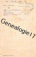 88 1182 BRUYERES EN VOSGES 1904 Docteur G. ROUSSEAU ( Medecin Medecine ) Ordonnace BALAND EMILE De L Usine BASTIER ( VEY - 1900 – 1949