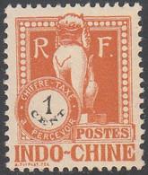 INDO CHINA   SCOTT NO J33    MNH    YEAR  1922 - Impuestos
