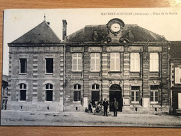 CARTE POSTALE Maubert Fontaine Place De La Mairie - Altri Comuni