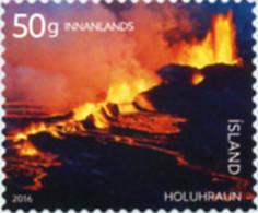 Ref. 356920 * NEW *  - ICELAND . 2016. ERUPTION OF HOLUHRAUN VOLCANO. ERUPCIO DEL VOLCAN HOLUHRAUN - Nuovi