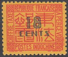 INDO CHINA   SCOTT NO J70    MNH   YEAR  1931 - Impuestos