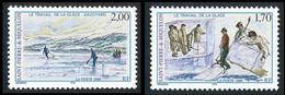 ST-PIERRE ET MIQUELON 1998 - Yv. 672 Et 673 ** Faciale= 0,56 EUR - Le Travail De La Glace (2 Val.) ..Réf.SPM12173 - Nuovi