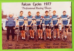 Equipe FALCON CYCLES 1977, Photo De Groupe . Soens, Mathews, Leek, Harrison, Wiggins, Lyon, Gregson - Cycling