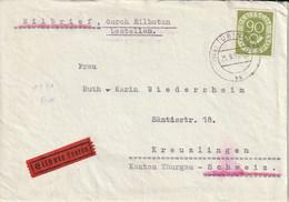 Allemagne Lettre Par Exprès Tübingen Pour La Suisse 1953 - Cartas