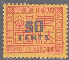 INDO CHINA   SCOTT NO J72    MNH   YEAR  1931 - Impuestos