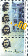 Ref. 129624 * NEW *  - ISRAEL . 1988. HOMAGE TO ANNA FRANK. HOMENAJE A ANNE FRANK - Unused Stamps (without Tabs)