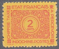 INDO CHINA   SCOTT NO J75   MINT NO GUM AS ISSUED    YEAR  1943 - Impuestos