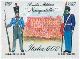 Ref. 124617 * NEW *  - ITALY . 1987. BICENTENARY OF THE NUNZIATELLA MILITARY SCHOOL. BICENTENARIO DE LA ESCUELA MILITAR - 1981-90:  Nuovi