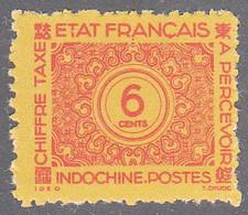 INDO CHINA   SCOTT NO J78   MINT NO GUM AS ISSUED    YEAR  1943 - Impuestos