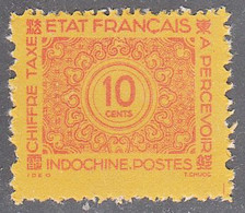 INDO CHINA   SCOTT NO J79   MINT NO GUM AS ISSUED    YEAR  1943 - Impuestos