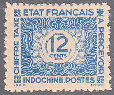 INDO CHINA   SCOTT NO J80     MINT NO GUM AS ISSUED    YEAR  1943 - Impuestos