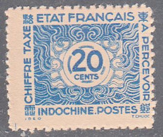 INDO CHINA   SCOTT NO J81     MINT NO GUM AS ISSUED    YEAR  1943 - Impuestos