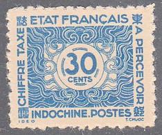 INDO CHINA   SCOTT NO J82     MINT NO GUM AS ISSUED    YEAR  1943 - Impuestos