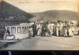 CARTE POSTALE Haybes Le Départ Du Givet Touriste - Otros Municipios