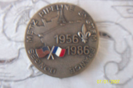 Médaille: Donges Metz  Pipeline System France 1956 1986 - Firma's