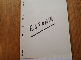 26.  LARGE COLLECTION. ESTONIA. EESTI.  USED.   START. DEPART 1€ - Sammlungen (im Alben)