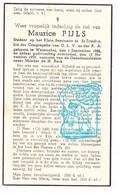DP Student Klein Seminarie St.-Truiden - Maurice Pijls 17j. ° Waterschei 1922 † 1939 - Andachtsbilder