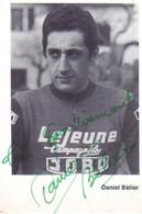 Carte Cyclisme Coureur Cycliste Daniel Belier Dédicacée - Cycling