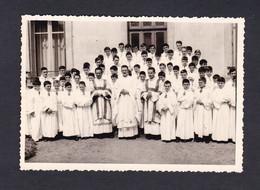 Photo Originale Epinal Premiere Messe Abbé Gerard Humbert St Saint Antoine Petits Chanteurs Croix De Lorraine - Lugares