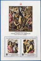 Ceskoslovakia 1978 Prague Exhibition Titiaan Painting Block MNH 2011.1804 Apollo's Companion With Violin, King Midas - Other