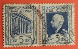 MARCA DA BOLLO - MARCHE PLUS VALORE TITOLI AZIONARI - 1943 - CENTESIMI 5 - Ohne Zuordnung