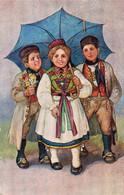 DC3828 - Ak Schöne Motivkarte Kinder Mit Schrim - Retratos