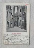 Cartolina Illustrata Siena - Via Della Galluzza, Viaggiata Per Roma 1904 - Siena