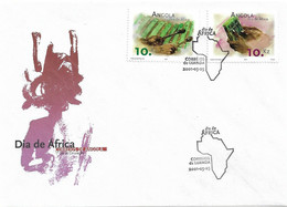 ANGOLA 2001 Africa Day - Music FDC - Angola
