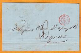 1845 - Lettre Pliée En Français De New York, USA Vers Cognac, France Via Liverpool & Boulogne - Cad Arrivée - T 14 - …-1845 Vorphilatelie