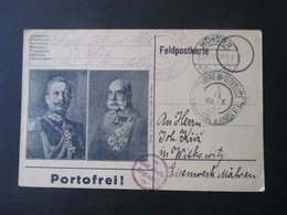 1915 Österreich  FP AK Aus Münster (Westf) Nach Mähren Witkowitz Propagandastempel Gott Strafe Endland / Gottes Fluch - Bosnien-Herzegowina