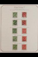 1911-36 KGV Downey Heads Basic Set Of 10, Wmk Royal Cypher Set Less 10d, ½d & 1d Wmk Simple Cypher , Good Used (SG 397/8 - Ohne Zuordnung