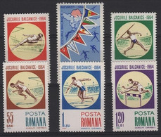 SPD 6 - ROUMANIE N° 2040/45 Neufs** Sports Divers Jeux Balkaniques - Nuevos