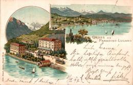 78492- Gruß Aus Paradiso Lugano Kanton Tessin 1897 - TI Ticino
